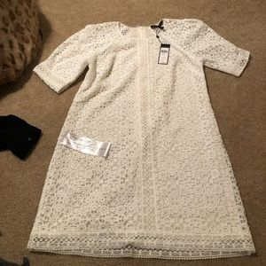 BCBG white dress new with tags